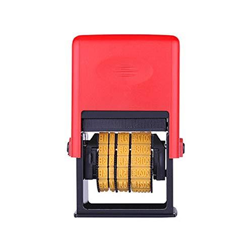 Handheld Coding Machine Expiration Number Printer Production Date Code Coding Tools Manual Lot Mark Printing Machine Printer Metal Wood Bottle (Real Font)