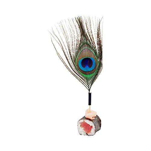 Peacock Eye Skewer, Peacock Feather Eye Pick - 4'', Natural - 500ct Box - Restaurantware by Restaurantware (Image #4)