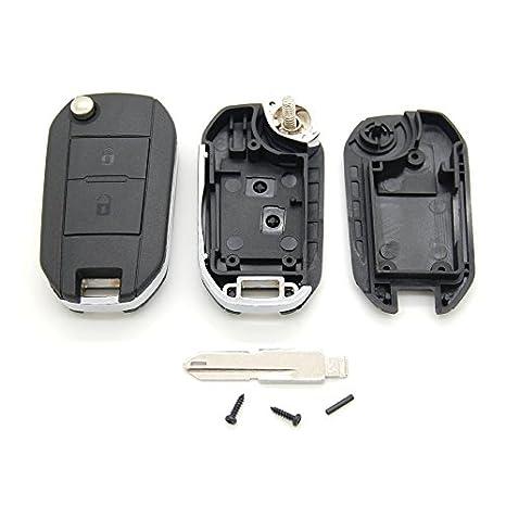 Carcasa para llave con telemando con 2 botones para Peugeot ...
