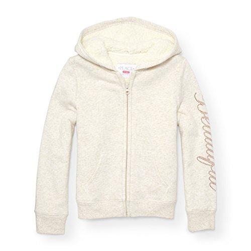 The Children's Place Big Girls' Fashion Hoodie, H/T Vanilla 88862, XL (14) -
