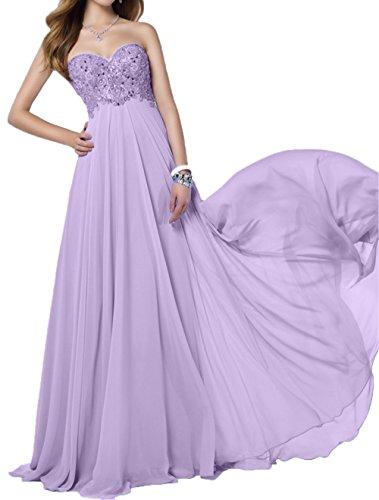 Abschlussballkleider Pailletten Abendkleider Braut Spitze Traegerlos Ballkleider mia Chiffon La Rock Partykleider Empire Lilac qxIwYOzyR