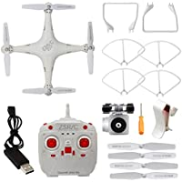 Aimik 2.4GHz Upgraded WIFI FPV Live Drone with 720° HD Wide Angle Lens Camera Drone Helicopter, Hovering control, Automatic Return (White)