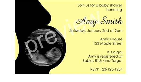 8b9c75499 Amazon.com  Baby Shower Invitation with Ultrasound Sonogram Photo ALL  COLORS  Health   Personal Care