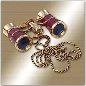 Carmen Opera Glasses Finish: Burgundy/Golden by LaScala Optics