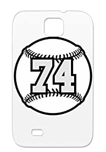 74 Baseball Raster 3 Color TAS TPU Black Case For Sumsang Galaxy S4 Number Ball Sports Base Baseball Sports