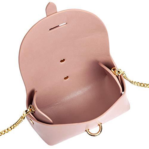 Chain Love Blush Leather Crossbody Vegan Pink Sydney ftqAxwFg7w