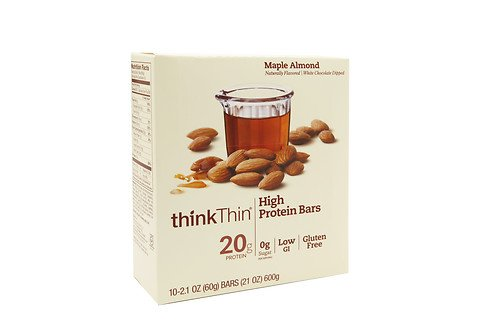 Maple Almond - thinkThin High Protein Bar, Maple Almond, 10 pk 2.1 oz (60 g)