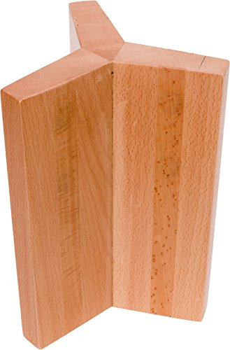 - 6-Sided Magnetic Knife Block - Beech Wood Universal Knife Holder by Mindful Design