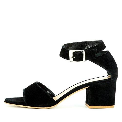 Evita mujer Sandalias de de vestir negro Mariella Shoes para Piel rtUExr8