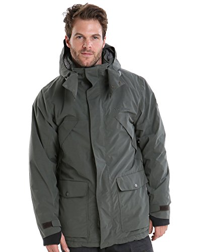 Parka Field Insulated Green Didriksons 190 Mike Waterproof Mens XqwnZIE