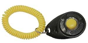 StarMark Black and Yellow Training Clicker with Yellow Wristband