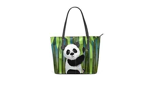 COOSUN Panda Curiosa de la PU de Cuero Bolso Monedero y ...