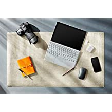 """Desk Mat Protector, 26"""" x 15.5"""", PU Leather Desk Pad Blotter, Mouse Pad Accessories with Comfortable Writing Surface, (Beige)"""
