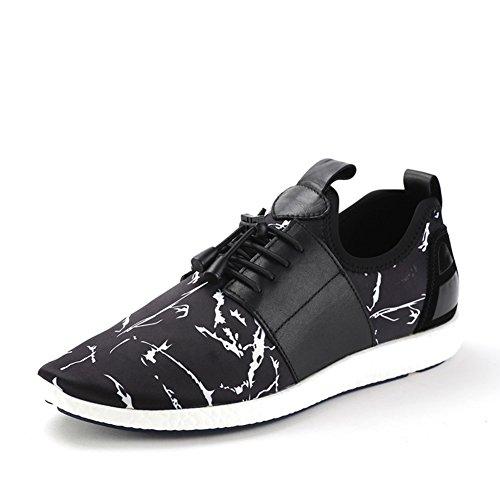 Caída de costura zapatos Camo/Zapatillas casuales hombre Negro