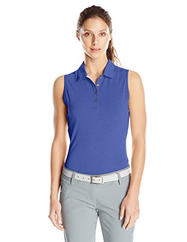 adidas-Golf-Womens-Climalite-Heather-Sleeveless-Polo