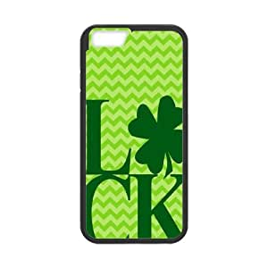 [H-DIY CASE] For Apple Iphone 6 Plus 5.5 inch screen-Green Lucky Clover-CASE-4