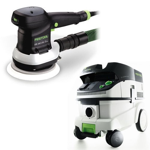 Festool P26571786 6 in. Random Orbital Finish Sander with CT 26 E 6.9 Gallon HEPA Mobile Dust Extractor