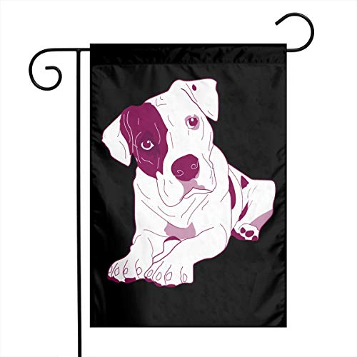 Pitbull Clipart Cute Graphic Outdoor/Indoor Garden Flag Gift