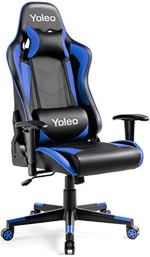 Gaming-Chair-Yoleo-Ergonomic-Office-Gaming-Chair-with-Lumbar-Support-High-Back-Computer-Gamer-Chair-Backrest-and-Height-Adjustable-Executive-Recliner-Swivel-Desk-Chair-Flip-Up-Arms-BlackBlue