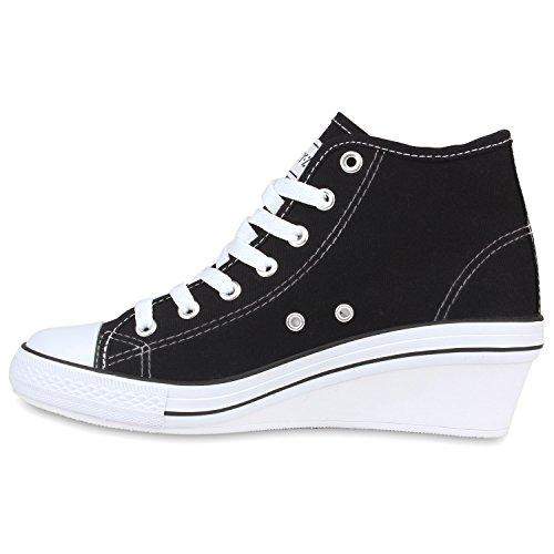 Chaussures Noir Compensées Stiefelparadies Femme Stiefelparadies Chaussures qE87CwU
