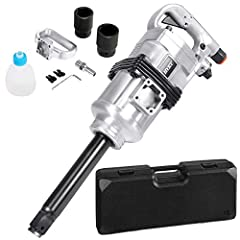 DescriptionThis is our heavy duty long shank air impact Wrench gun which is perfect for general repair work on trucks, tires and heavy duty equipment. Featured a convenient reverse valve, 2 standard impact sockets and a storage case, this air...