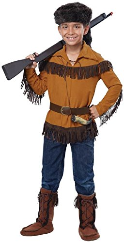 Kid's Frontier Boy Costume Brown (Small (6-8)) -
