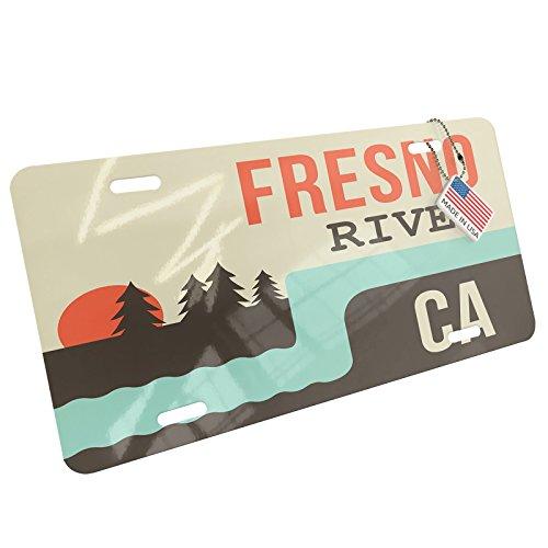Metal License Plate USA Rivers Fresno River - California - - River Fresno