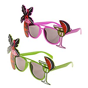 Amosfun 2pcs Hawaii Tropical Sunglasses Novedad ...