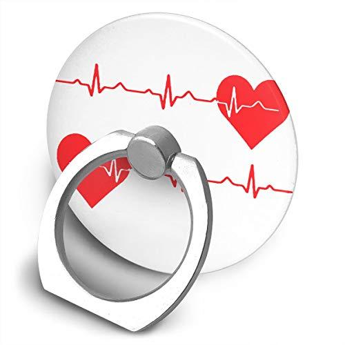 (Phone Ring Holder Stand Nurse Heartbeat EKG Phone Ringer Bracket for All)