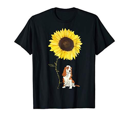 Anvil T-shirt Hat - Cocker Spaniel Dog Hippe Sunflower funny Pet lover Tshirt