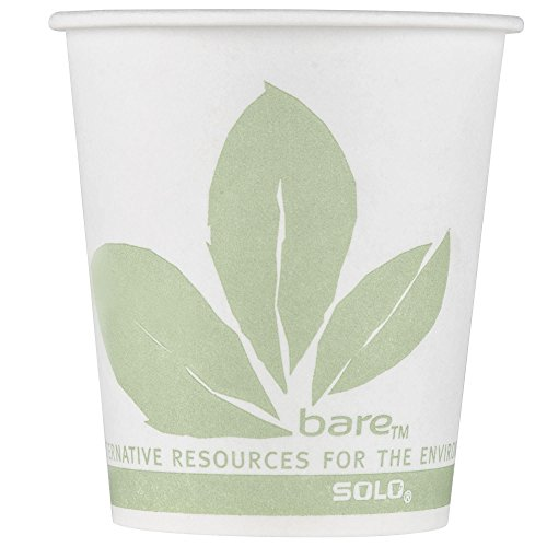 TableTop King 44BB-JD110 Bare Eco-Forward 3 oz. Wax Treated Printed Paper Cold Cup - 5000/Case by TableTop King
