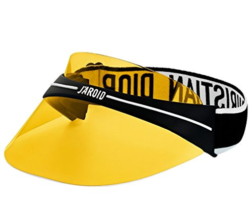 Luxury High End France Club1 Visor Transparent Logo branding elastic strap sunglass EYEWEAR yellow