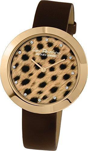 Jacques Lemans La Passion LP-113I Wristwatch for women Leopard look