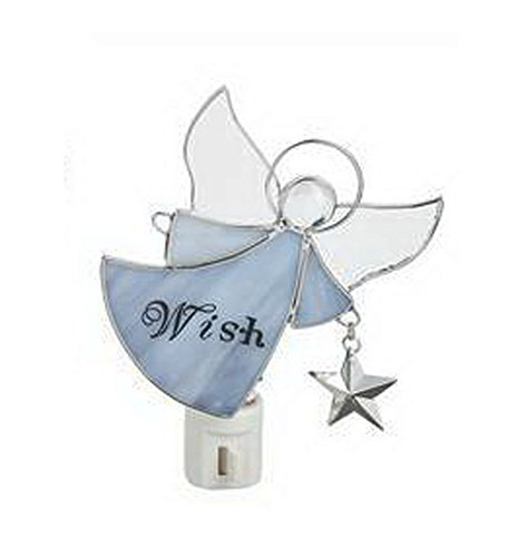 Purple Wish Angel - Stained Glass NightLight by Ganz