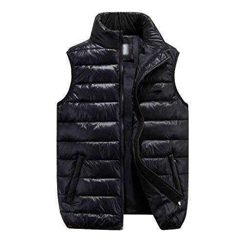 Senza Gilet Colletto Autunno Addensare Black E Da Xdljl Slim Inverno Uomo Maniche fT1Tzn