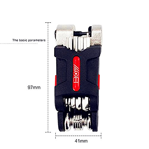 Bike Tool Kit - 19-function Bike Multi Tool for Mountain Biking and Cycle Repair with Spoke Wrenches, Screwdrivers, Tire levers and Chain Tool by BOY (Image #1)