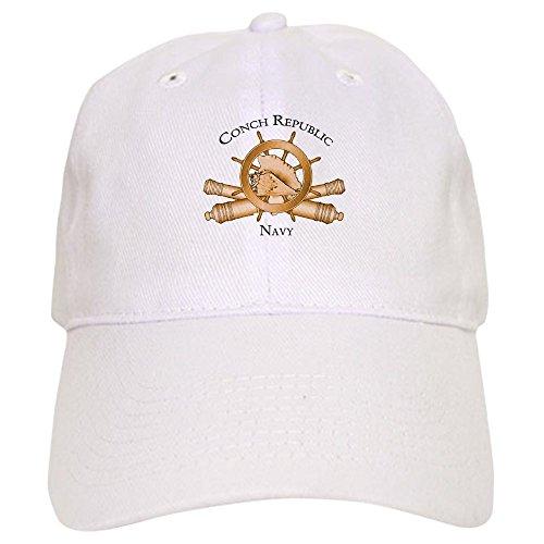 CafePress Official Conch Republic Navy Baseball Baseball Cap with Adjustable Closure, Unique Printed Baseball ()