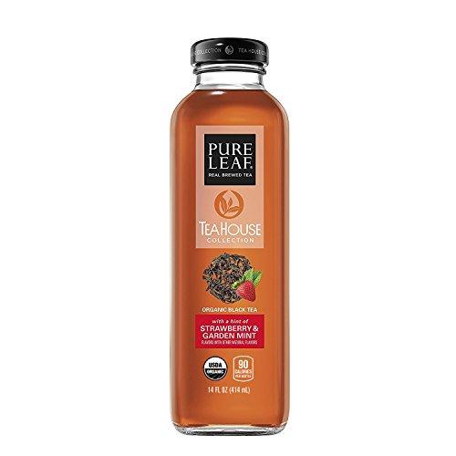Pure Leaf Tea House Collection, Organic Iced Tea, Strawberry & Garden Mint, 14 Ounce (8 (Tea Strawberry Tea)