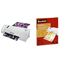 Scotch Thermal Laminator and Laminating Pouches (8.97-Inch x 11.45-Inch, 3-Mil Thickness per Pouch) Bundle, 50 Pouches per Bundle