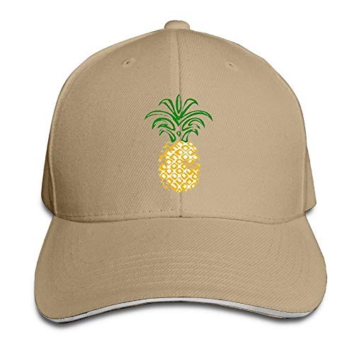 Pineapple Emoji Novel Trucker Cap Durable Baseball Cap Hats Adjustable Peaked Sandwich Cap -