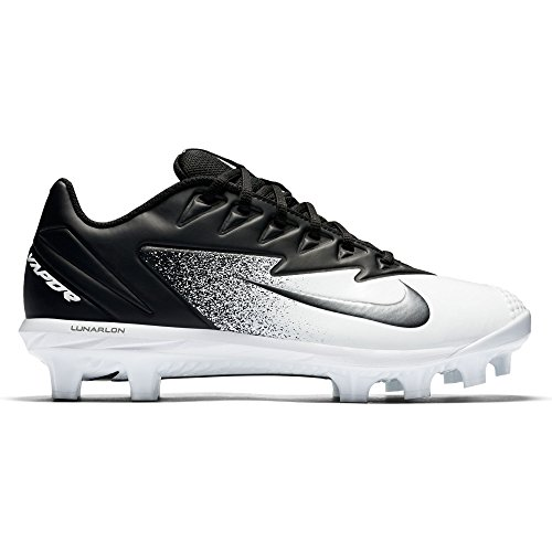 NIKE Men's Vapor Ultrafly Pro MCS Baseball Cleat Black/Metallic Silver/White Size 9 M US