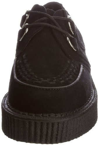 Lo adulte TUK mixte Baskets mode Black Noir Creeper Suede Black Sole Interlace UYwxdq6A