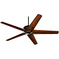 "60"" Casa Venue Oil-Brushed Bronze Damp Ceiling Fan"