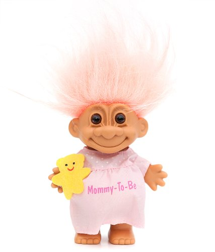 My Lucky MOMMY TO BE 6'' Troll Doll by Russ Berrie