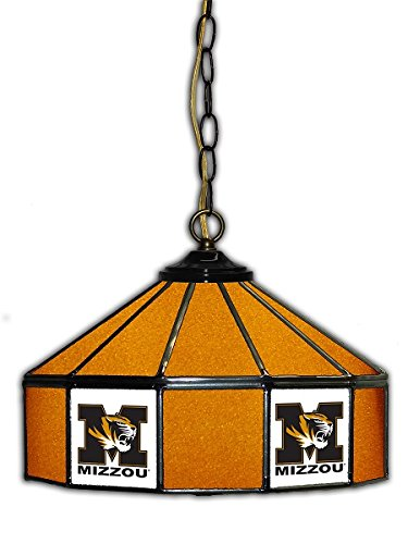 Official Licensed NCAA UNIVERSITY OF MISSOURI 14'' Glass Pub Lamp by Imperial International by Imperial