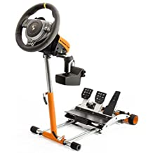 GT3 Racing Steering Wheelstand for Fanatec GT2/GT3RS, CSP/CSP V2/V3, CSR/CSR Elite w/CSP/CSR/CSRElite Pedals. V2 Deluxe Wheel Stand Pro stand - Black. Wheel and Pedals Not included.
