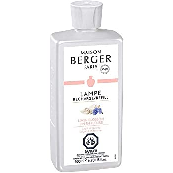 Linen Blossom | Lampe Berger Fragrance Refill for Home Fragrance Oil Diffuser | Purifying and perfuming Your Home | 16.9 Fluid Ounces - 500 millimeters | Made in France