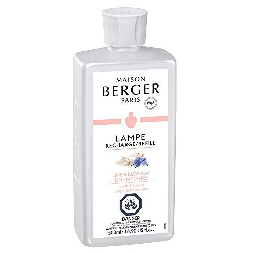 - Linen Blossom | Lampe Berger Fragrance Refill for Home Fragrance Oil Diffuser | Purifying and perfuming Your Home | 16.9 Fluid Ounces - 500 millimeters | Made in France