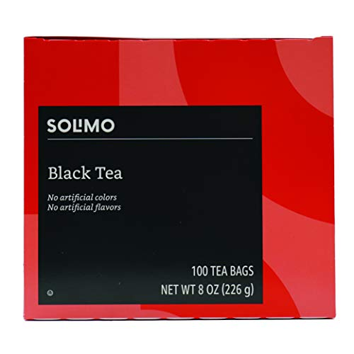 Amazon Brand - Solimo Black Tea Bags, 100 Count