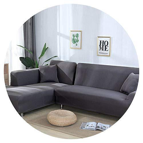 Amazon.com: Grey/Solid Color 1 Piece/ 2 Pieces Sofa Cover ...